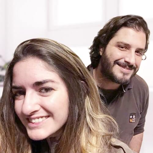 Fernando Bigeriego y Sara Molina
